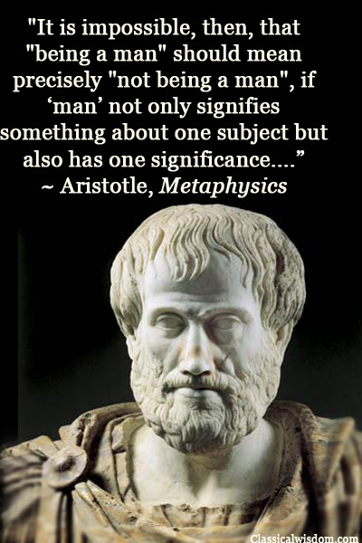 Image result for Photos of Aristotle's Principles of Noncontradiction in Philosophy